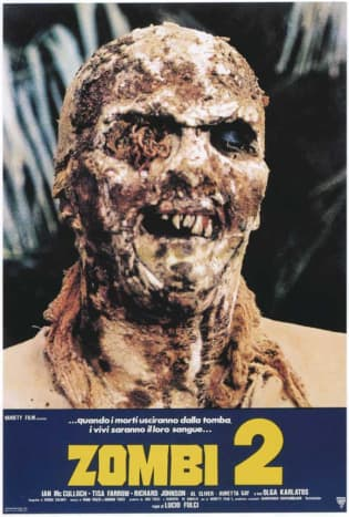 'Zombi 2' is actually 'Zombi 1' while 'Dawn of the Dead' is technically 'Zombie 1' even though 'Zombi 1' has nothing to do with 'Zombi 2'... yeah. You figure that one out!