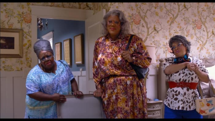 Tyler Perry as loud mouthed Perry and the wonder twins of simpletons.