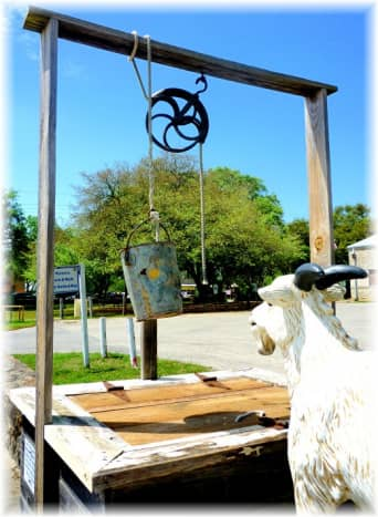 Old community well in Montgomery, TX