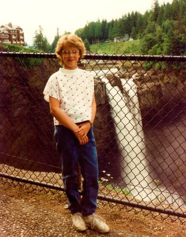 My niece at Snoqualmie Falls