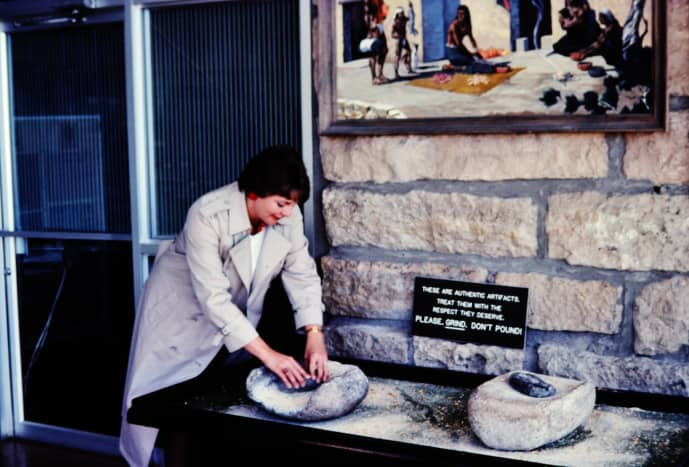 Walnut Canyon visitor center - Yours truly