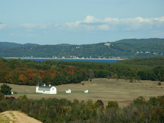 D.H. Day Farm and Lake Michigan