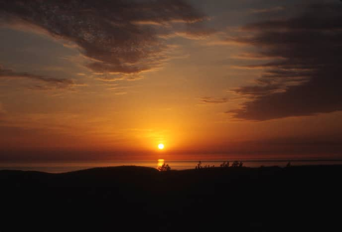 Sunset over Sleeping Bear Dunes National Lakeshore