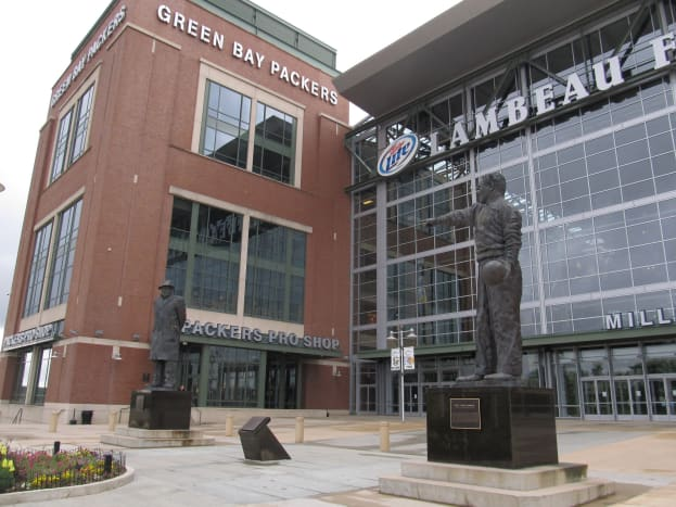Lambeau Field is home of the Green Bay Packers.