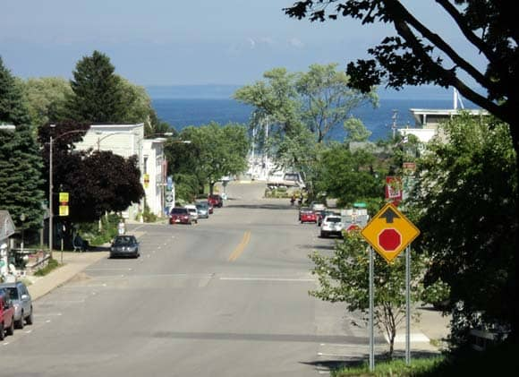 Downtown Northport, looking toward the Marina
