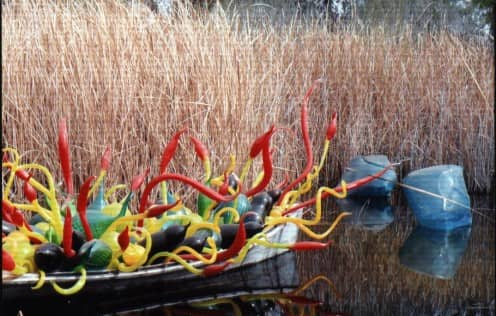 Floating Glass Chihuly Sculptures