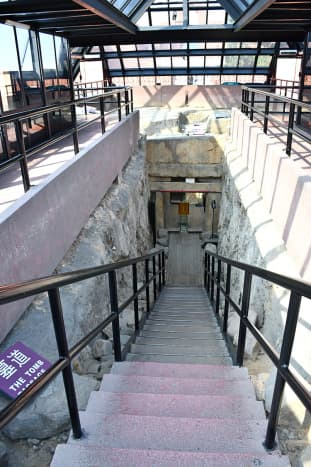 Stairway down to the Nanyue King Mausoleum.