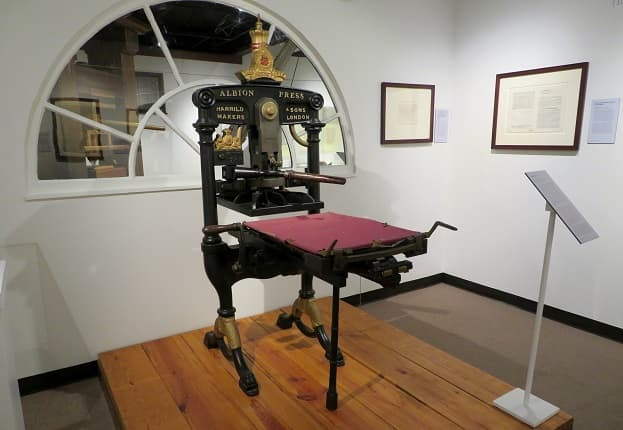 Albion Press in the Texas History Gallery