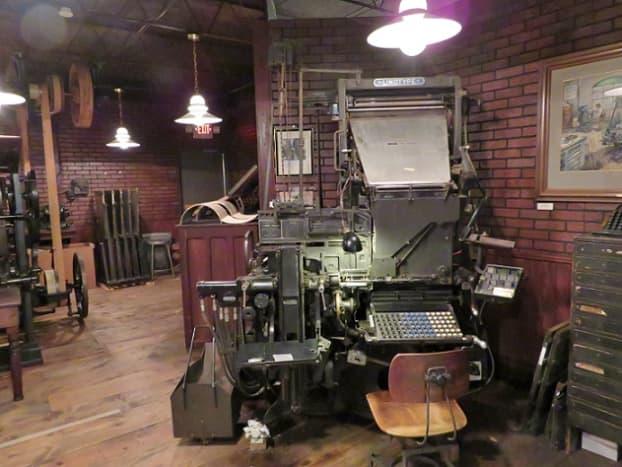 Hearst Newspaper Gallery - Linotype Machine in Foreground