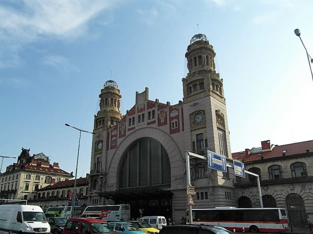 Prague main train station.
