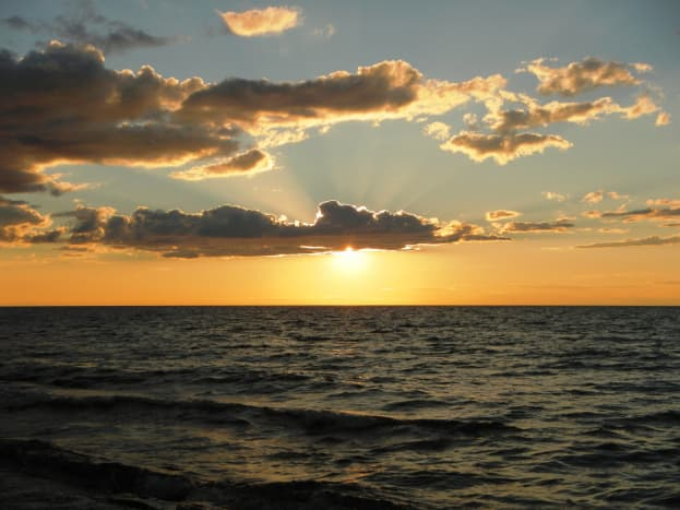 Sunset over Lake Superior @ Porcupine Mountains Wilderness State Park, Michigan
