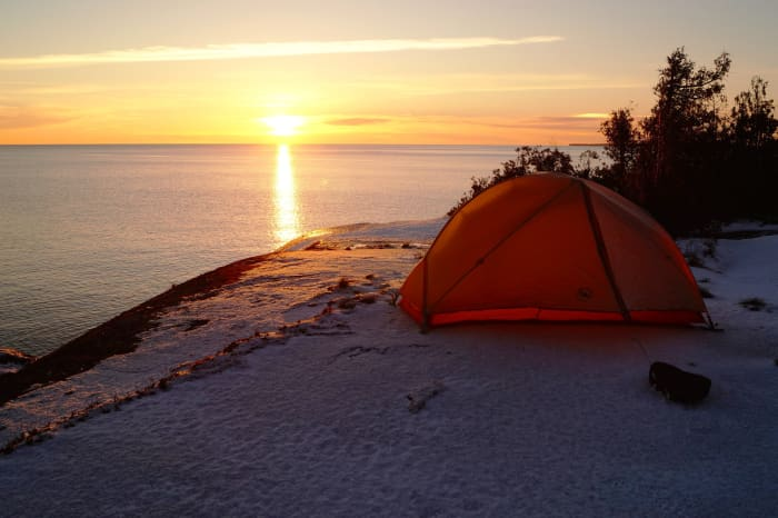 Sunset at Lake Superior Provincial Park in Ontario, Canada