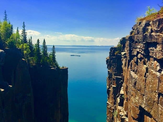 Sleeping Giant Provincial Park lookout in Thunder Bay, Ontario.