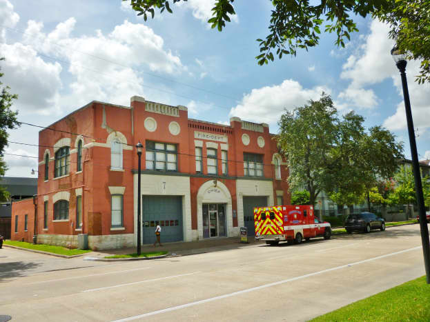 Outside view of the Houston Fire Museum