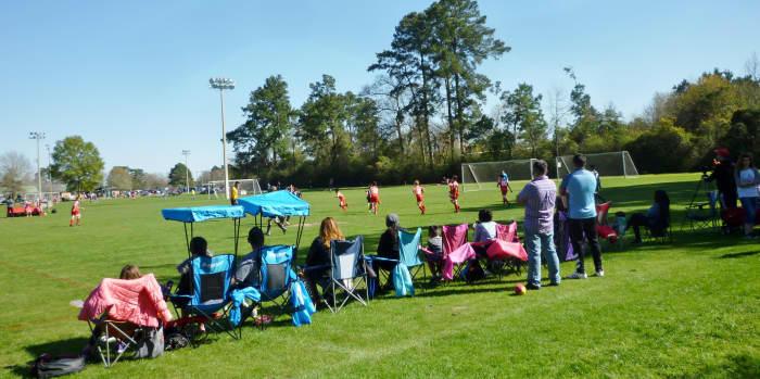 Soccer fields in the park