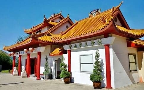 Teo Chew Temple building honoring the deceased