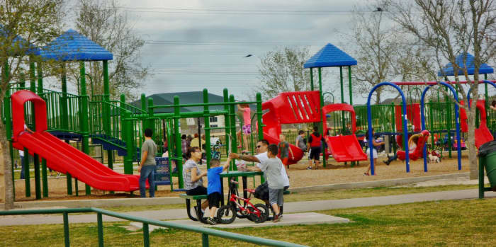 Family fun in Goforth Park