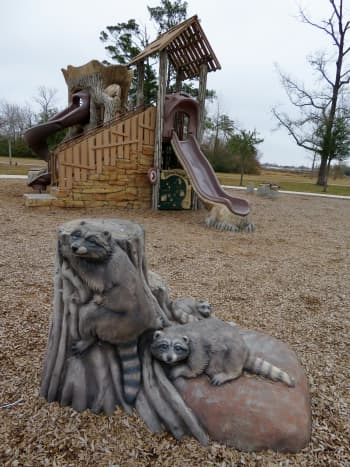 Such a cute playground in Shady Lane Park!