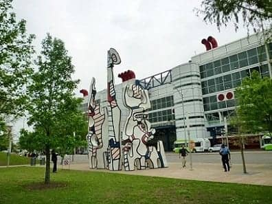 """""""Monument au Fantôme"""" by Jean Dubuffet across from the George R. Brown Convention Center in Houston"""