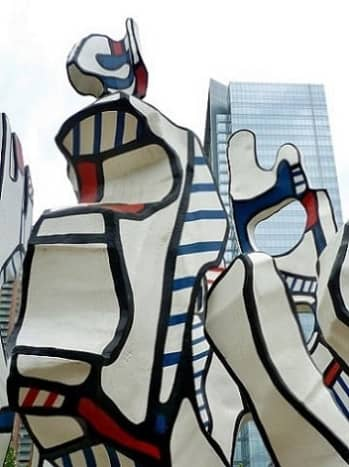 """Closeup view of the """"Monument au Fantôme"""" by Jean Dubuffet in Discovery Green Park"""