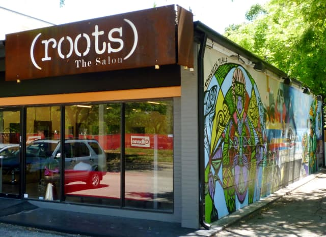 New mural on (roots) The Salon