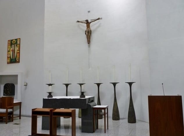 Interior view with a closer look at the altar