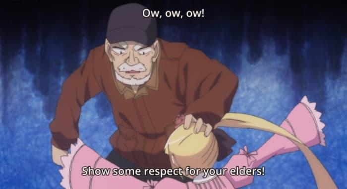 "Teaching Sana to show some respect in ""Alice to Zouroku"""
