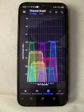 Several free applications can be downloaded to your phone and used to monitor wi-fi signals