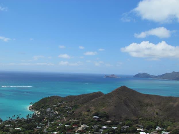 Oahu's windward coast, looking toward Chinaman's Hat Island