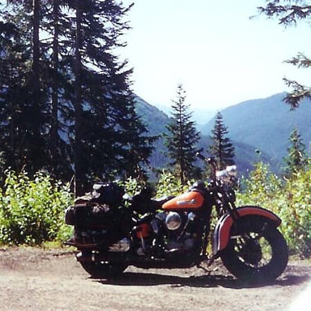 The '47 Knucklehead, along the way somewhere