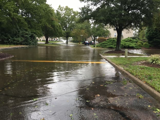 I don't even live by the ocean and we were still flooded in our neighborhood.