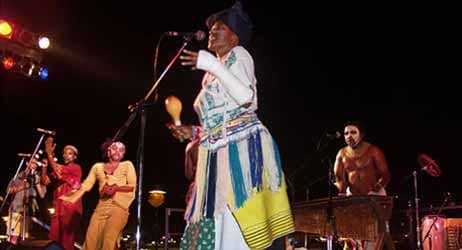 """Amampondo are one of the best known South African percussion ensembles and ambassadors of African music. """"Amampondo"""" means, literally, """"people from Mpondo"""" - imaginary country of the Xhosa kingdom. The ensemble formed in 1979 by Dizu 'Zungulu' Plaatj"""