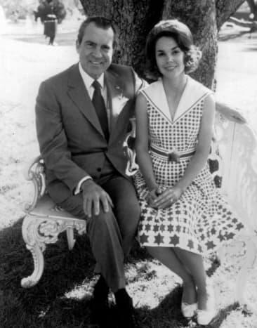 President Richard Nixon and his daughter Julie
