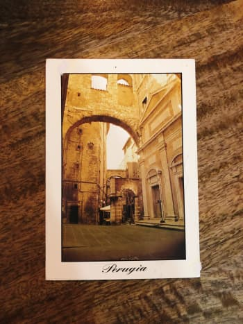1. Perugia, Italy. I received this postcard from Karolina, my classmate in Italy. Perugia is rich with local culture and beautiful mountainous landscape.
