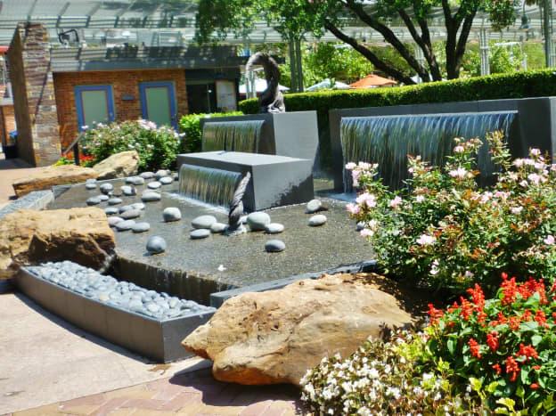 View of Lauren's Garden in Houston's Market Square Park
