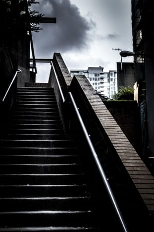 The lonely staircase.