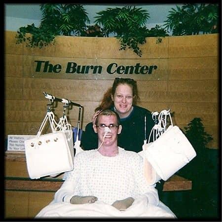 Bambi & Scott At The Burn Center