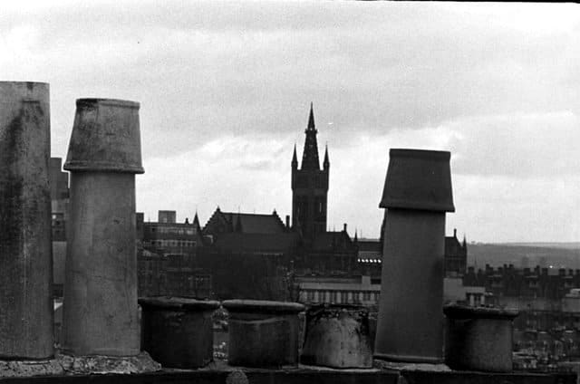 roofscape, hillhead to gilmorehill