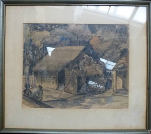 Indonesia - 1949 drawing by Synco Schram de Jong