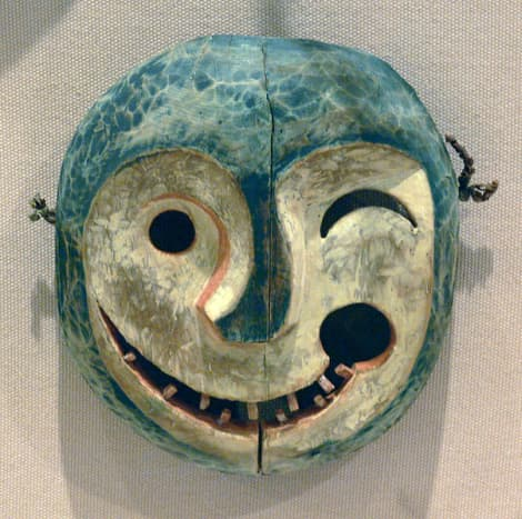 An Alaskan mask depicting a tunghak (keeper of the game).