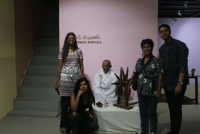 With Mahatma Ghandi
