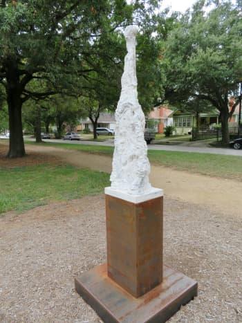 """""""Oar Barnacles"""" by Jill Bedgood in the True North 2019 sculpture exhibit"""