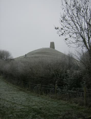 Glastonbury Tor, high above the Somerset Levels - it is said Jesus came here with Joseph of Aramathea