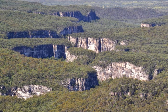 Carnarvon Gorge from the Air