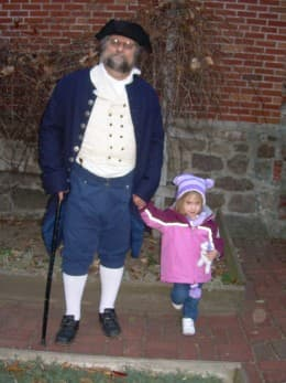 With Papa at the Paul Revere House during their annual holiday program