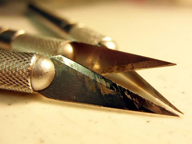 Scalpel and plastic sculpting tools