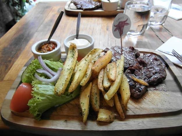 Steak at La Casona.