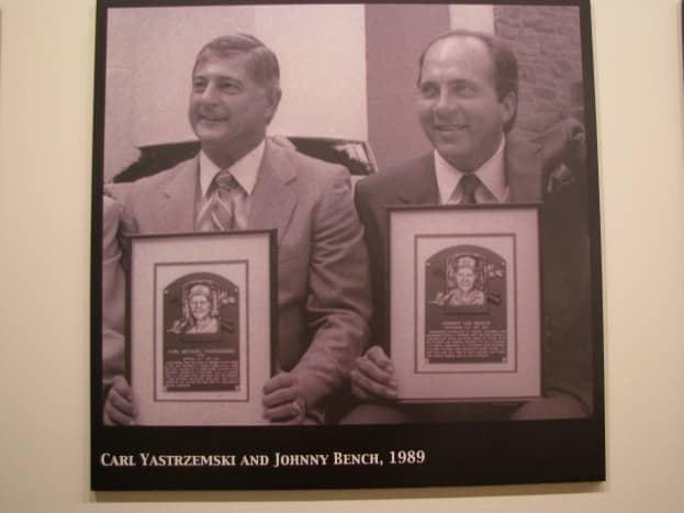 Carl Yastrzemski and Johnny Bench