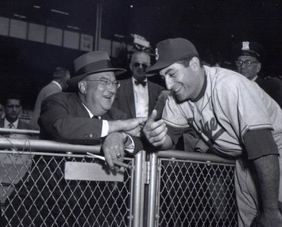 Furillo with Dodger owner Walter O'Malley.