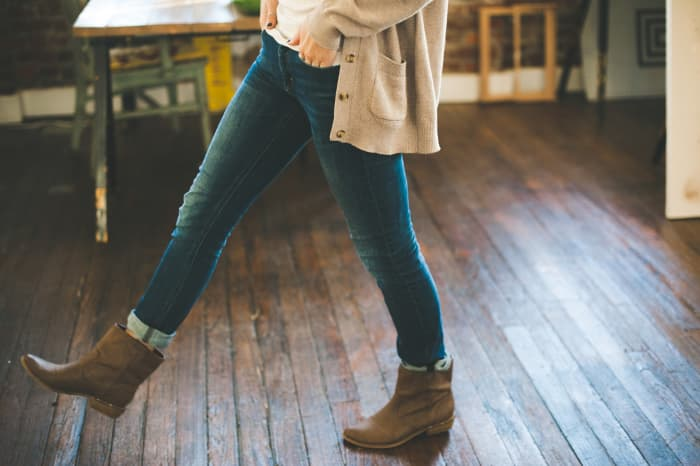 A chunky sweater and boots make up my go-to outfit during the fall.